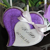 """Свадебный салон ручной работы. Ярмарка Мастеров - ручная работа Мыло-бонбоньерка """"Два сердца"""". Handmade."""