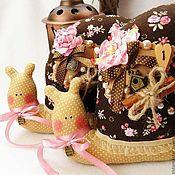 Куклы и игрушки ручной работы. Ярмарка Мастеров - ручная работа Улитка Тильда (корица и розовый мармелад). Handmade.