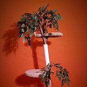 Для домашних животных, ручной работы. Ярмарка Мастеров - ручная работа Когтеточка - комплекс (Среднее дерево). Handmade.