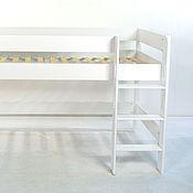 Мебель ручной работы. Ярмарка Мастеров - ручная работа Кровать чердак белая высота XL 120 см для детей от 3 лет. Handmade.