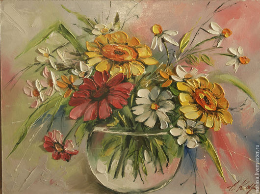 Картины цветов ручной работы. Ярмарка Мастеров - ручная работа. Купить июнь. Handmade. Разноцветный, картина, картина в подарок