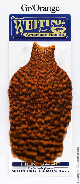 Другие виды рукоделия ручной работы. Ярмарка Мастеров - ручная работа. Купить Перья Whiting American Hen Cape Gr/Orange (42801151). Handmade.