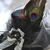 Аксессуары ручной работы. Ярмарка Мастеров - ручная работа Шляпка с перьями. Handmade.