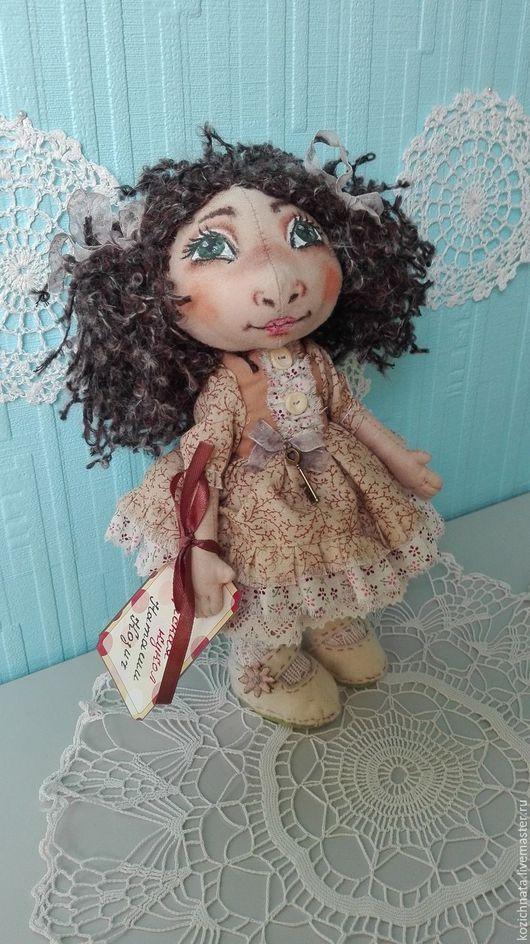 Коллекционные куклы ручной работы. Ярмарка Мастеров - ручная работа. Купить Кукла текстильная. Жанна.. Handmade. Бежевый, кружево хлопок