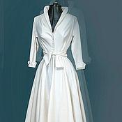 """Свадебный салон ручной работы. Ярмарка Мастеров - ручная работа платье- рубашка с юбкой- клеш """"Свадебная рубашка"""". Handmade."""