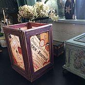 """Для дома и интерьера ручной работы. Ярмарка Мастеров - ручная работа Свечной фонарь """"Boutron"""" малый (для свечей). Handmade."""