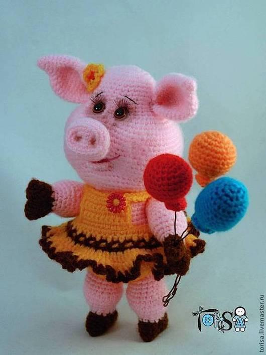 Игрушки животные, ручной работы. Ярмарка Мастеров - ручная работа. Купить Свинка Шурочка. Handmade. Бледно-розовый, вязаные свинки
