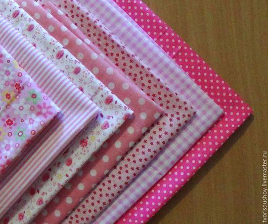Куклы и игрушки ручной работы. Ярмарка Мастеров - ручная работа. Купить Набор тканей из хлопка (4). Handmade. Ткань, хлопок