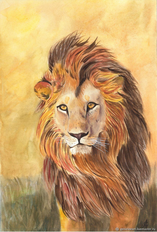 вот картины со львами фото мамонов продолжает находиться