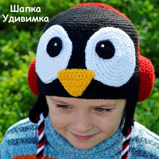 Шапки и шарфы ручной работы. Ярмарка Мастеров - ручная работа. Купить Шапка Пингвин. Handmade. Пингвин, теплая шапка