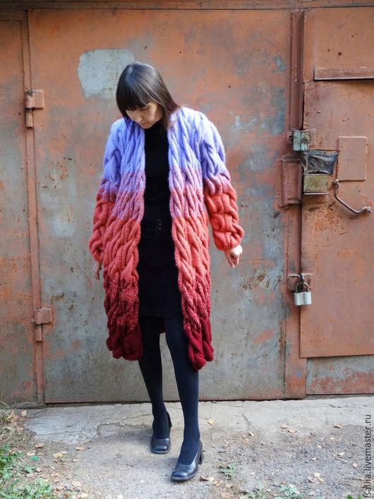 Верхняя одежда ручной работы. Ярмарка Мастеров - ручная работа. Купить Копия работы Кардиган или пальто .. Handmade. Косы