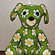 Игрушки животные, ручной работы. Ромашковый собакен из африканских мотивов. Амишка (Amishka). Интернет-магазин Ярмарка Мастеров. подарок, собака