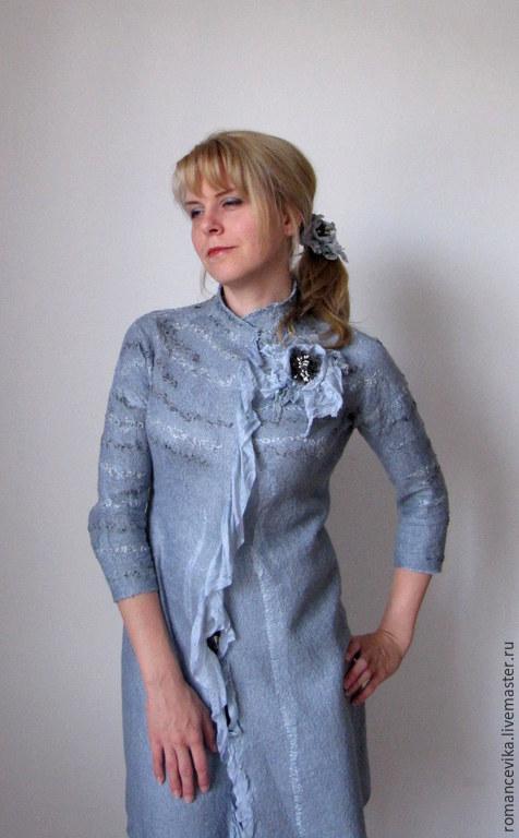 Верхняя одежда ручной работы. Ярмарка Мастеров - ручная работа. Купить Летнее пальто, нуновойлок. Handmade. Авторская робота