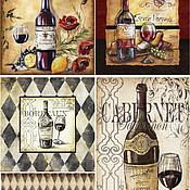 """Материалы для творчества ручной работы. Ярмарка Мастеров - ручная работа арт. 571 """"вино"""", рисовая бумага для декупажа. Handmade."""