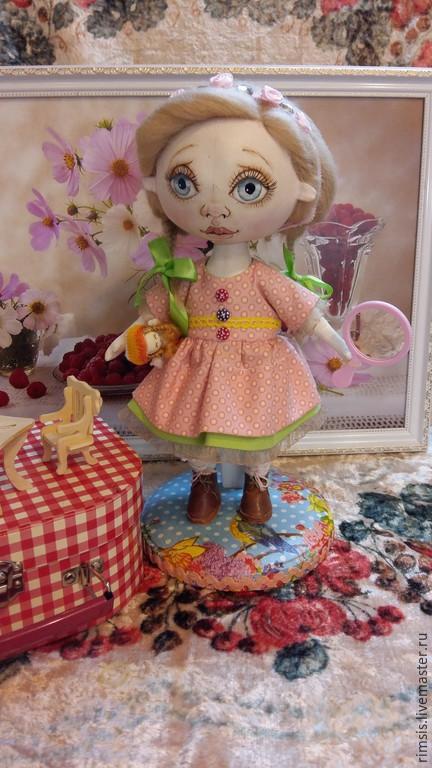 """Куклы тыквоголовки ручной работы. Ярмарка Мастеров - ручная работа. Купить Текстильная интерьерная куколка """"Лялька"""". Handmade. Бежевый, девочка"""