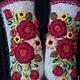 Варежки, митенки, перчатки ручной работы. Варежки с вышивкой   Allegria. Ludmila Batulina (milenaleoneart). Ярмарка Мастеров. Варежки теплые