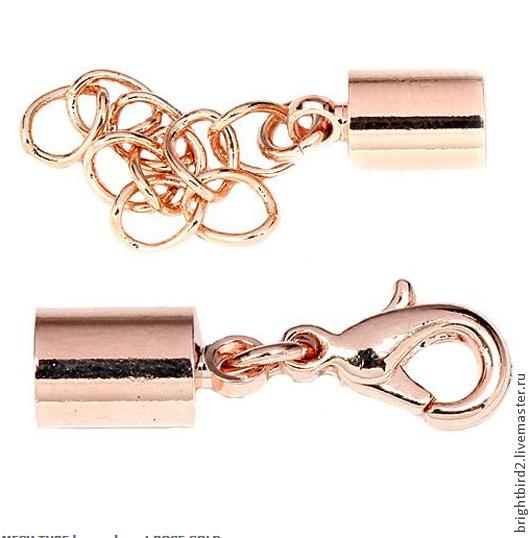 Для украшений ручной работы. Ярмарка Мастеров - ручная работа. Купить Концевик для браслетов МЕШ ROSE Gold. Handmade.