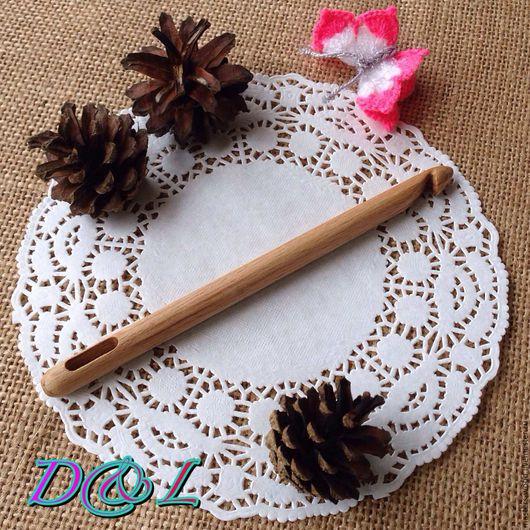 Вязание ручной работы. Ярмарка Мастеров - ручная работа. Купить Игла для нукинга. Handmade. Бежевый, крючки, спицы, игла, для вязания