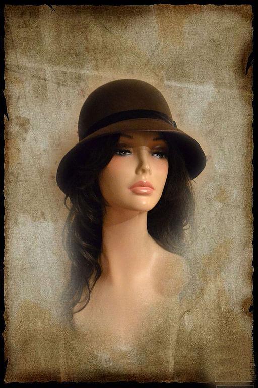 """Шляпы ручной работы. Ярмарка Мастеров - ручная работа. Купить Шляпка """" Шоколад"""". Handmade. Коричневый, шляпка с вуалью"""
