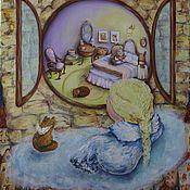 Картины и панно ручной работы. Ярмарка Мастеров - ручная работа Даже у кошек есть свой ангел. Handmade.
