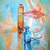 """Картины и панно ручной работы. Ярмарка Мастеров - ручная работа Картина пастелью """"Стеклянный блюз цвета осень...."""". Handmade."""