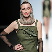 Одежда handmade. Livemaster - original item 3D Dress genuine leather