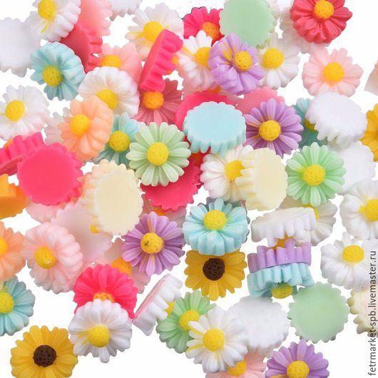 Другие виды рукоделия ручной работы. Ярмарка Мастеров - ручная работа. Купить Цветы кабошоны. Handmade. Комбинированный, смола украшения