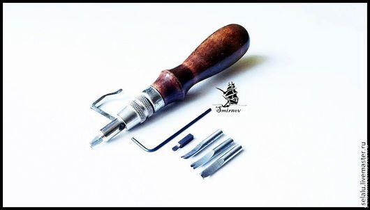 Шитье ручной работы. Ярмарка Мастеров - ручная работа. Купить Универсальный инструмент для прорезания канавок и прочерчивания борозд. Handmade. Коричневый