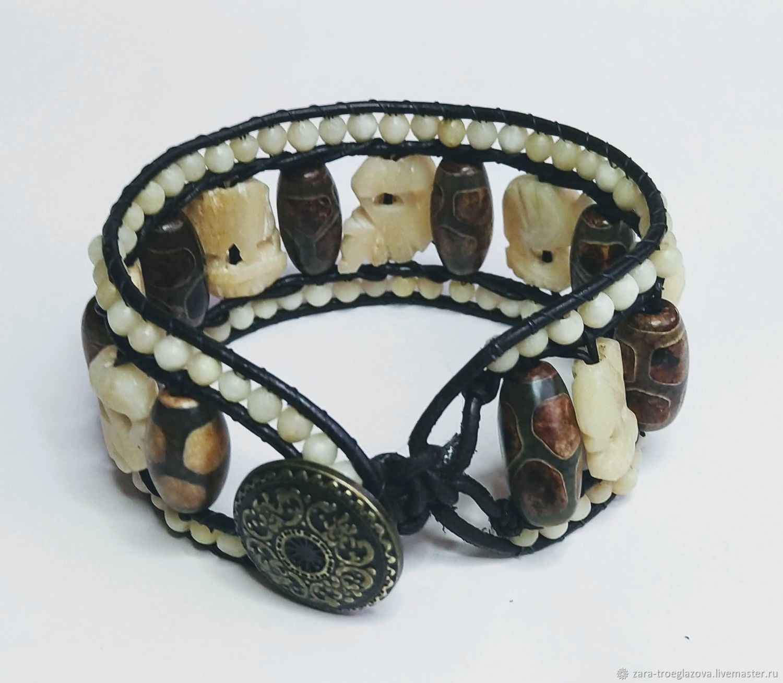 Bracelet 'Elephants', Braided bracelet, Samara,  Фото №1