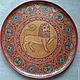 Plate vintage 'lion'. Ware in the Russian style. albinaustyugova (albinaustyugova). Online shopping on My Livemaster.  Фото №2