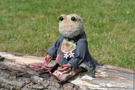 Мишки Тедди ручной работы. Ярмарка Мастеров - ручная работа. Купить Rose  (Роуз) ...(25см) тедди жаба лягушка ооак. Handmade.