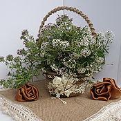 Для дома и интерьера handmade. Livemaster - original item Basket interior jute