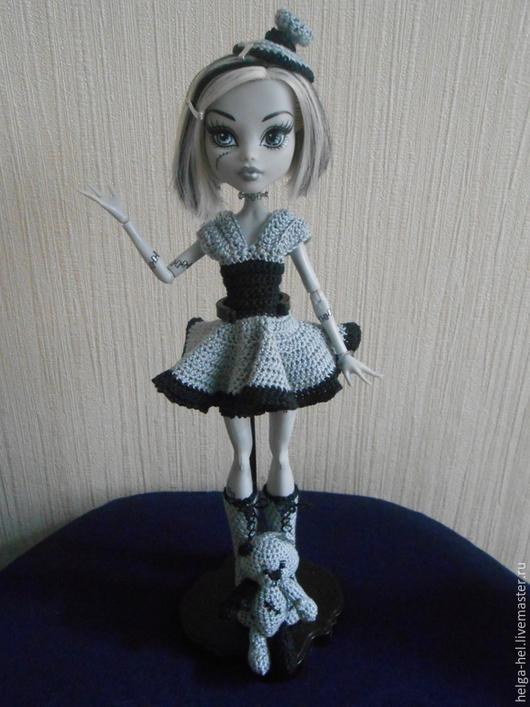 Одежда для кукол ручной работы. Ярмарка Мастеров - ручная работа. Купить Комплект для Monster High по мотивам платья Кинозвезда. Handmade.