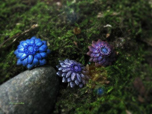 Кольца ручной работы. Ярмарка Мастеров - ручная работа. Купить Цветы из Зачарованного Леса. Handmade. Кольцо цветок, цветок, фантазия