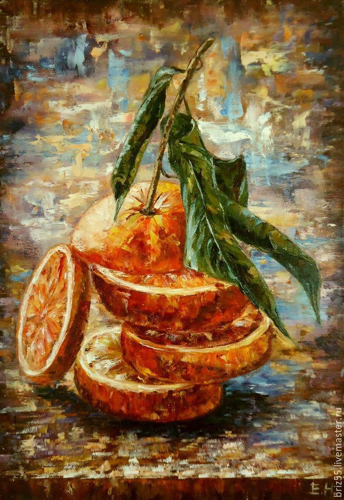 Oil painting Juicy orange, Pictures, Zelenograd,  Фото №1