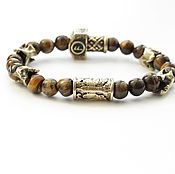 Украшения handmade. Livemaster - original item Buy a bracelet - Tiger eye. Handmade.