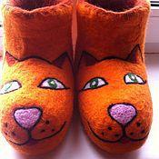 """Обувь ручной работы. Ярмарка Мастеров - ручная работа валенки """"Киса-Анфиса"""". Handmade."""