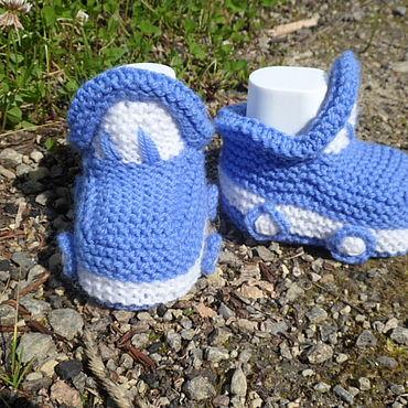 Обувь ручной работы. Ярмарка Мастеров - ручная работа Пинетки: тачки. Handmade.