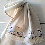 Полотенца ручной работы. Ярмарка Мастеров - ручная работа Гуси - кухонное полотенце. Handmade.