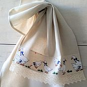 Для дома и интерьера handmade. Livemaster - original item GEESE - kitchen towel. Handmade.