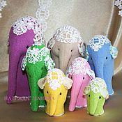 Куклы и игрушки ручной работы. Ярмарка Мастеров - ручная работа Семь слоников. Handmade.