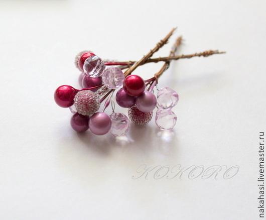 Другие виды рукоделия ручной работы. Ярмарка Мастеров - ручная работа. Купить Декоративный элемент бордо-розовый-сахар. Арт. 23700440. Handmade.