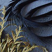 Материалы для творчества handmade. Livemaster - original item Decorative Feather Black 8-15 cm. Handmade.