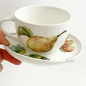Посуда ручной работы. Ярмарка Мастеров - ручная работа Роспись фарфора Мой сад. Handmade.