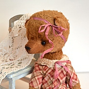 Куклы и игрушки ручной работы. Ярмарка Мастеров - ручная работа Муся мишка тедди. Handmade.