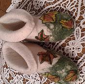 Обувь ручной работы. Ярмарка Мастеров - ручная работа валенки-чуни Кленовые листочки. Handmade.