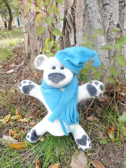 Кукольный театр ручной работы. Ярмарка Мастеров - ручная работа. Купить Игрушка  мишка Снежок, игрушка бибабо (BIBABO). Handmade.