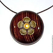 Украшения handmade. Livemaster - original item Wooden pendant Aromacean from natural wood (Pine). Handmade.