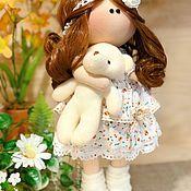 Тыквоголовка ручной работы. Ярмарка Мастеров - ручная работа Кукла в ситцевом платье. Handmade.