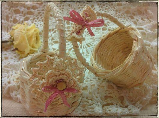 Кукольный дом ручной работы. Ярмарка Мастеров - ручная работа. Купить Корзиночки миниатюрные для кукол. Handmade. Бежевый, корзинка для тильды